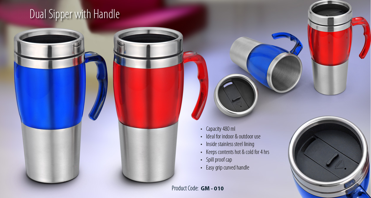 DUAL SIPPER WITH HANDLE