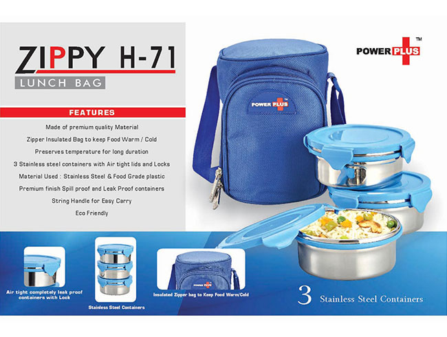 Zippy Lunch bag- 3 containers (metal) - H71