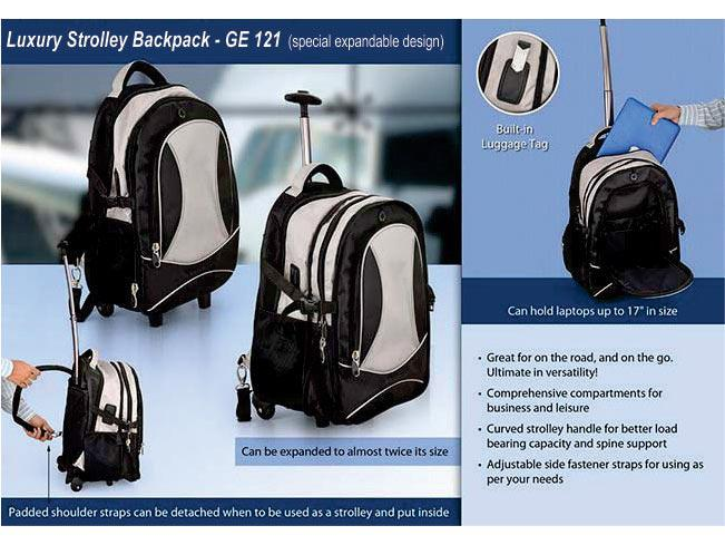 GE121 - Luxury strolley backpack (Special Expandable design)