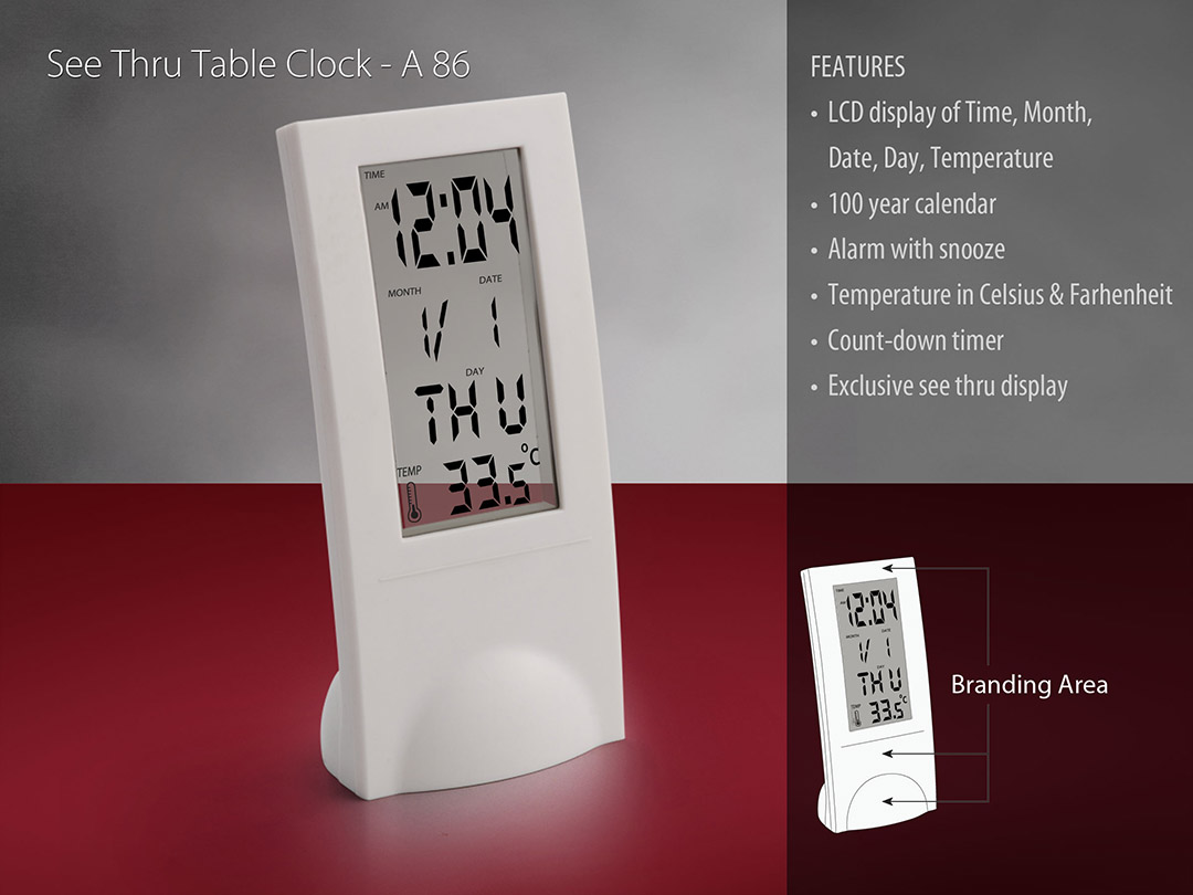 A86 - See thru table clock