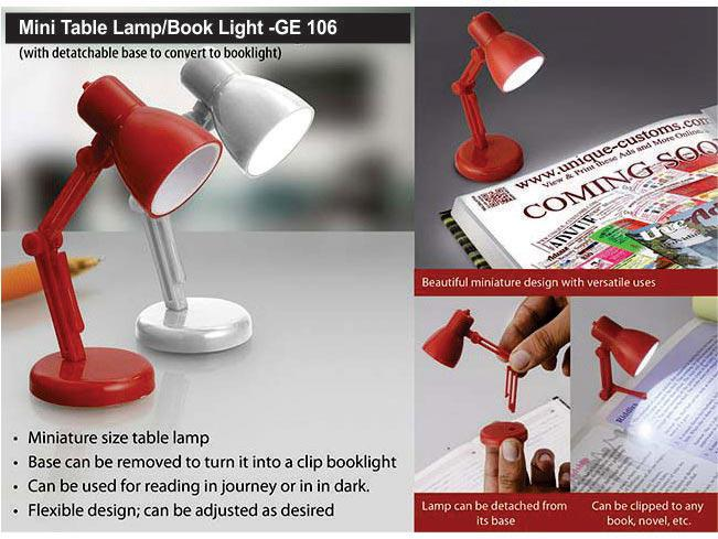 GE106 - Mini table lamp / booklight