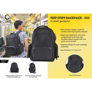 S04 - Tuff stuff Backpack (3 shell pockets) by Castillo Milano
