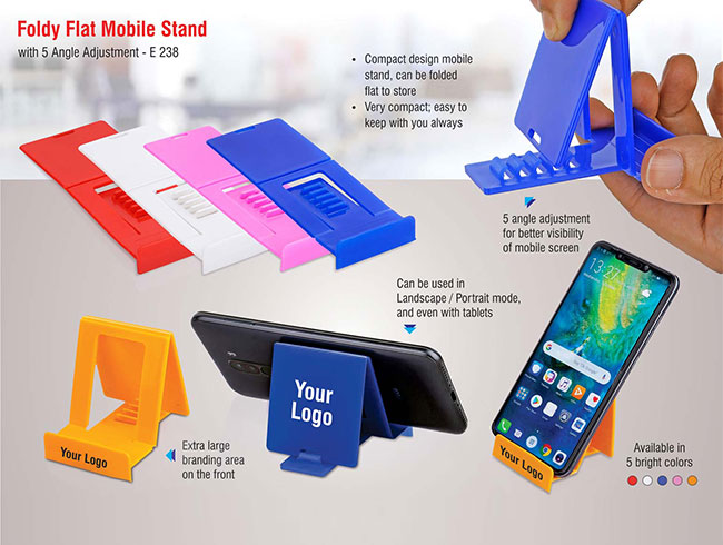 FoldyFlat mobile stand with 5 angle adjustment - E238