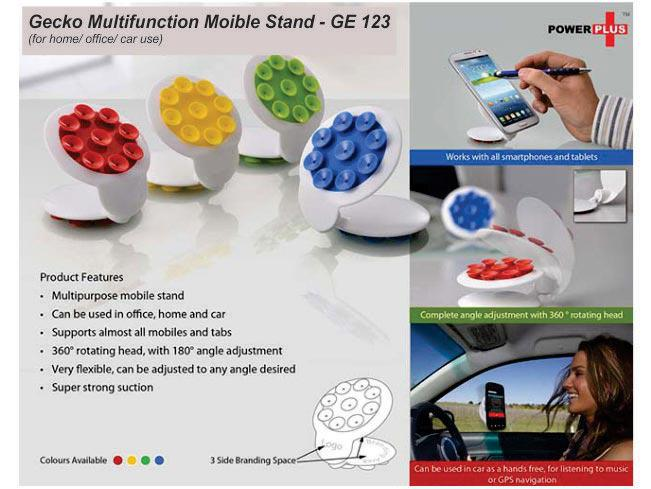 GE123 - Gecko multifuction mobile stand (for home/ office/ car use)