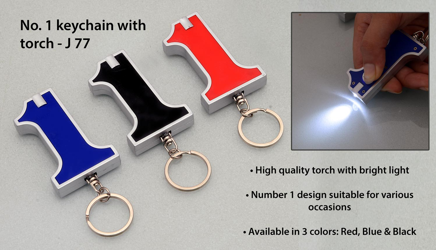 No. 1 keychain with torch