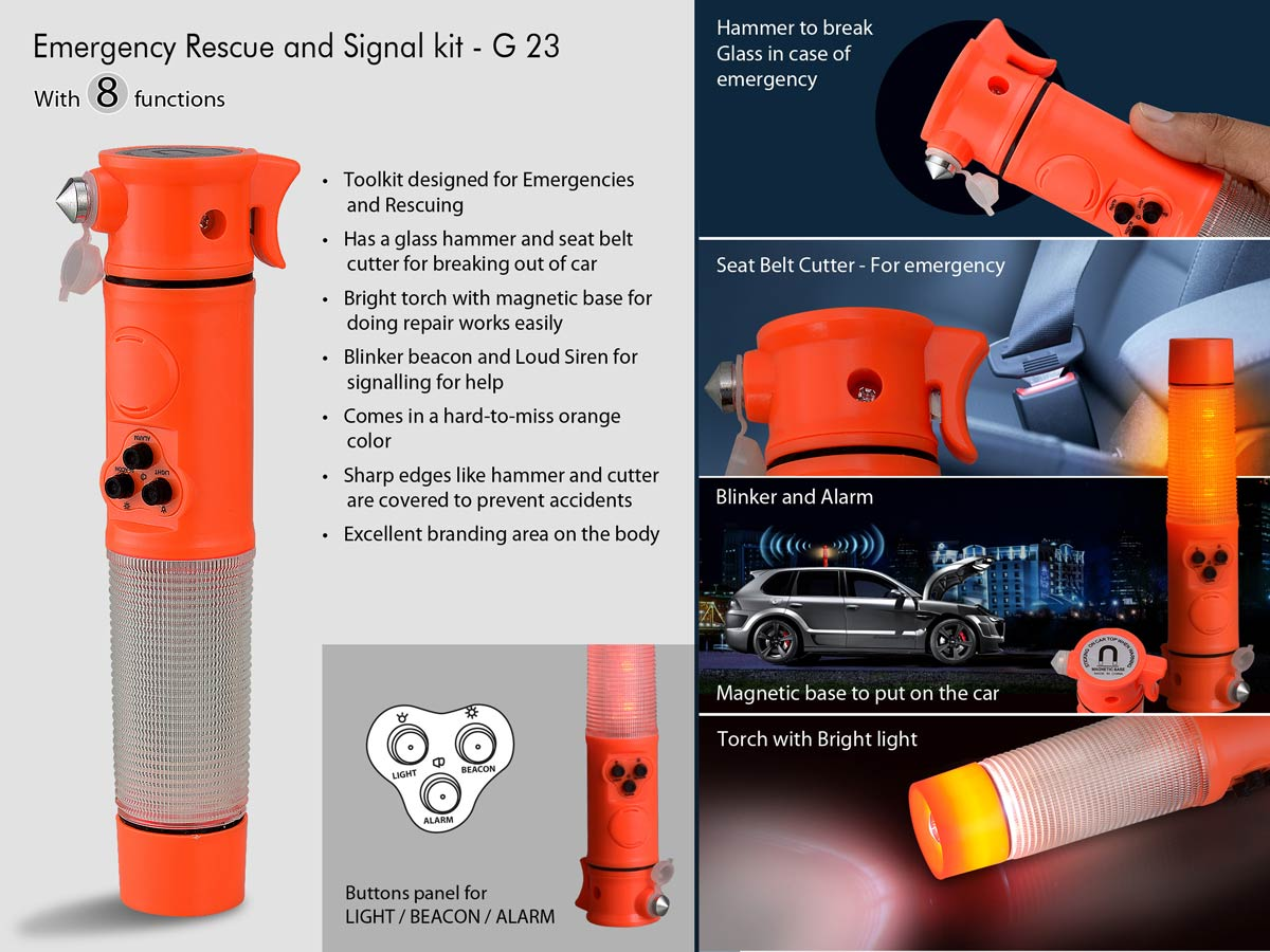 G23 - Emergency Rescue and Signal kit (8 function)