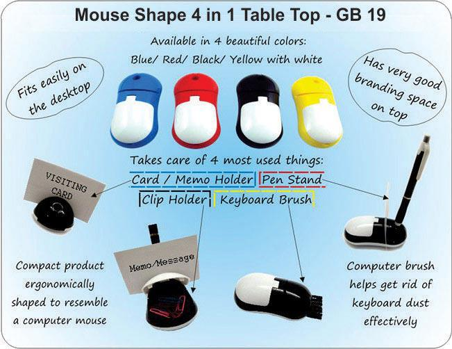 GB19 - Mouse shape 4 in 1 table top