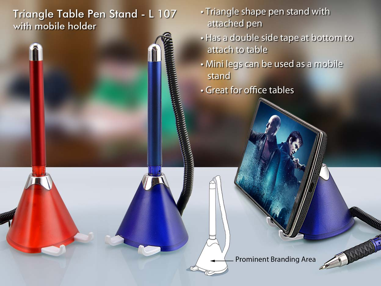 L107 - Triangle table pen stand with mobile holder