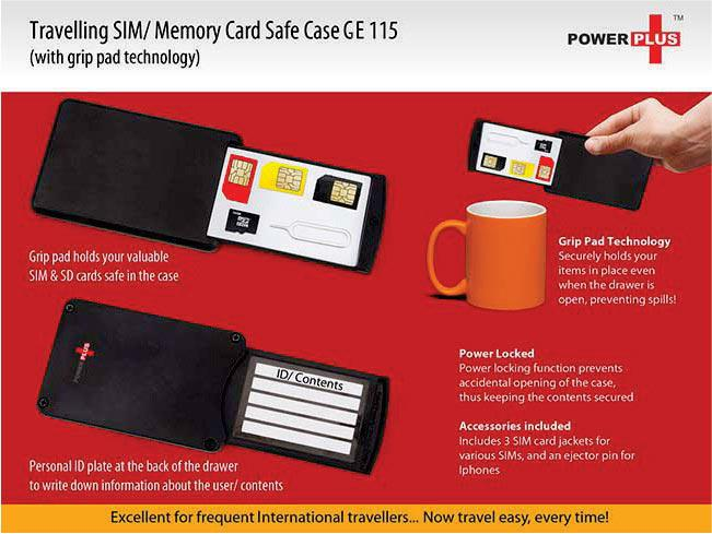 GE115 - Travelling SD/Sim card safe case