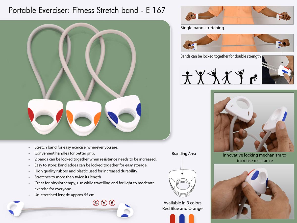 E167 - Portable exerciser: Stretch band