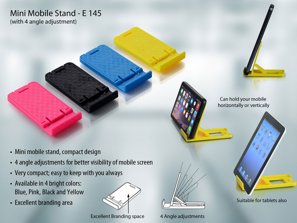 E145 - Mini mobile stand with 4 angle adjustment
