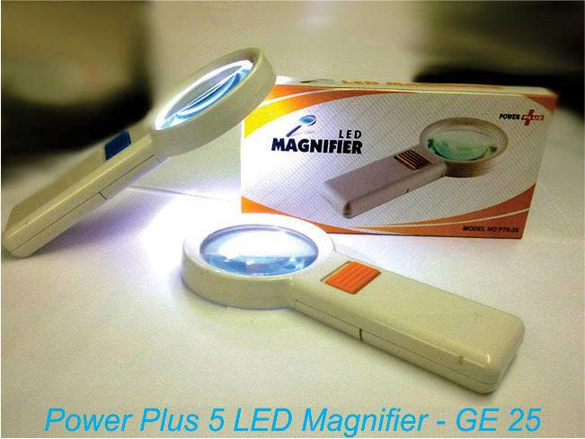 GE25 - Power plus 5 LED Magnifier