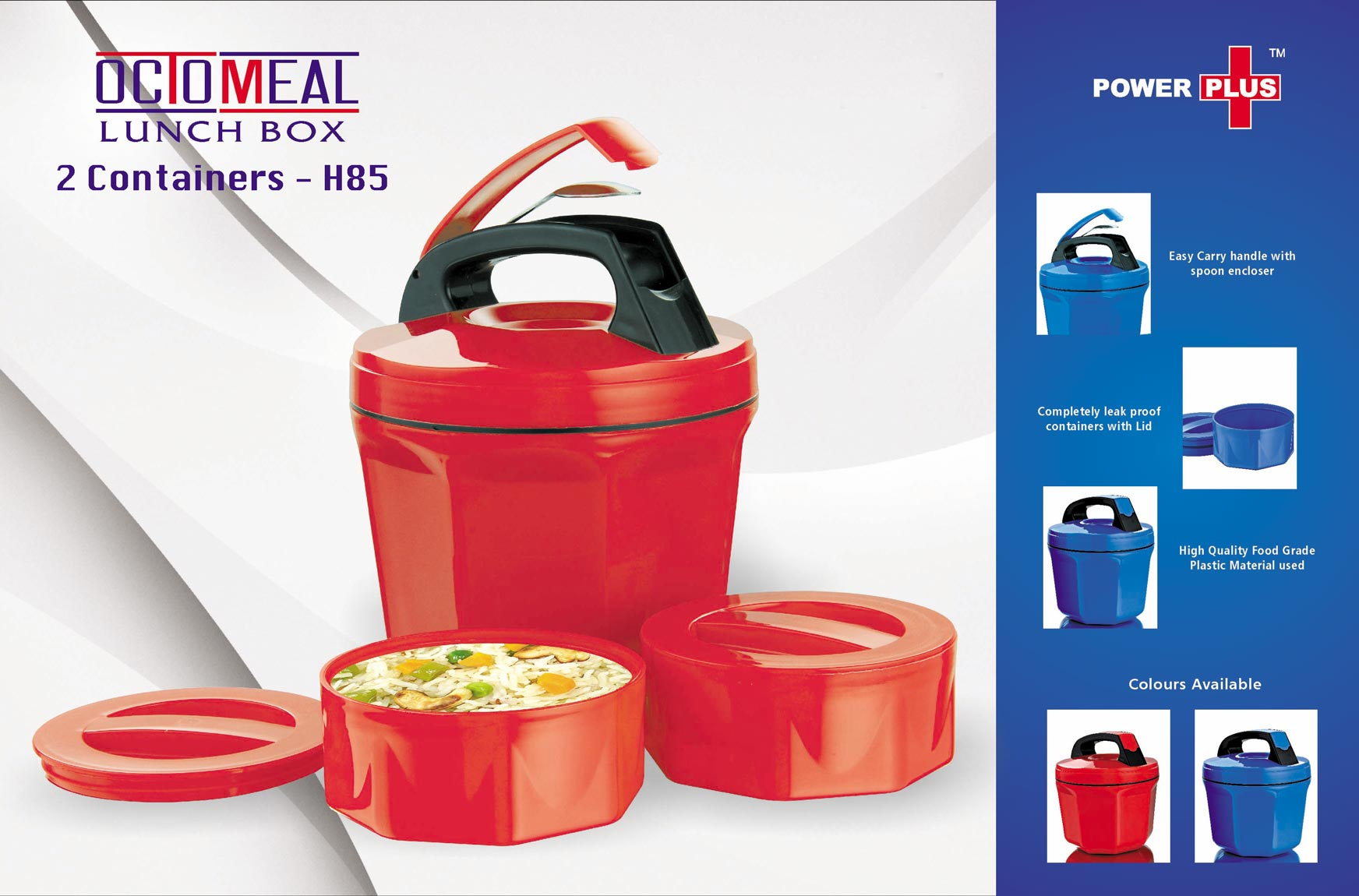 H85 - Power Plus Octomeal Lunch box - 2 containers (plastic)