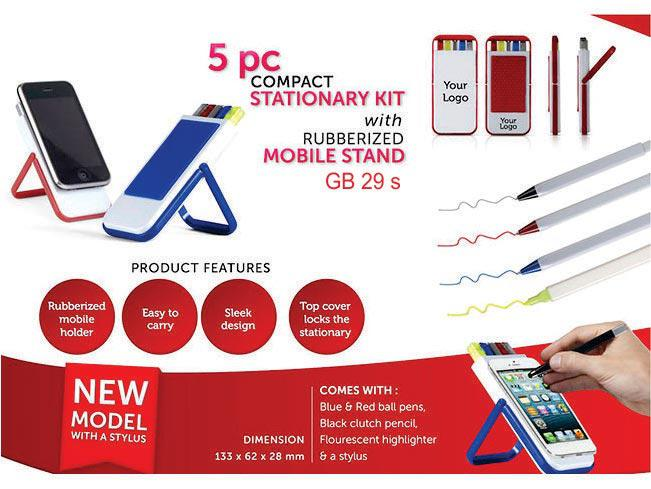 GB29s - 5 pc compact stationary kit with Rubberized mobile stand
