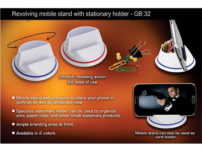 GB32 - Revolving mobile stand with stationary holder