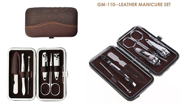 GM-110 Leather Manicure Set
