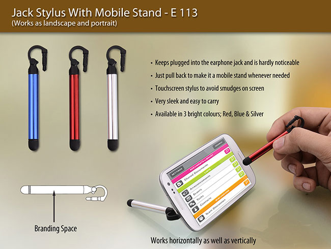 Jack stylus with mobile stand - E113