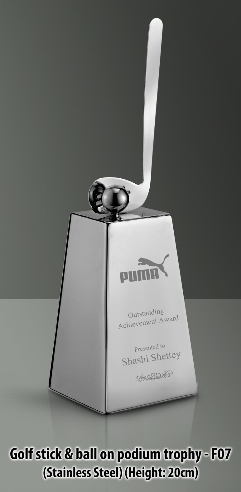 Promotional golf stick trophies
